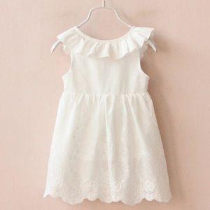 Other - White Eyelet Lace Bow Back Summer Dress
